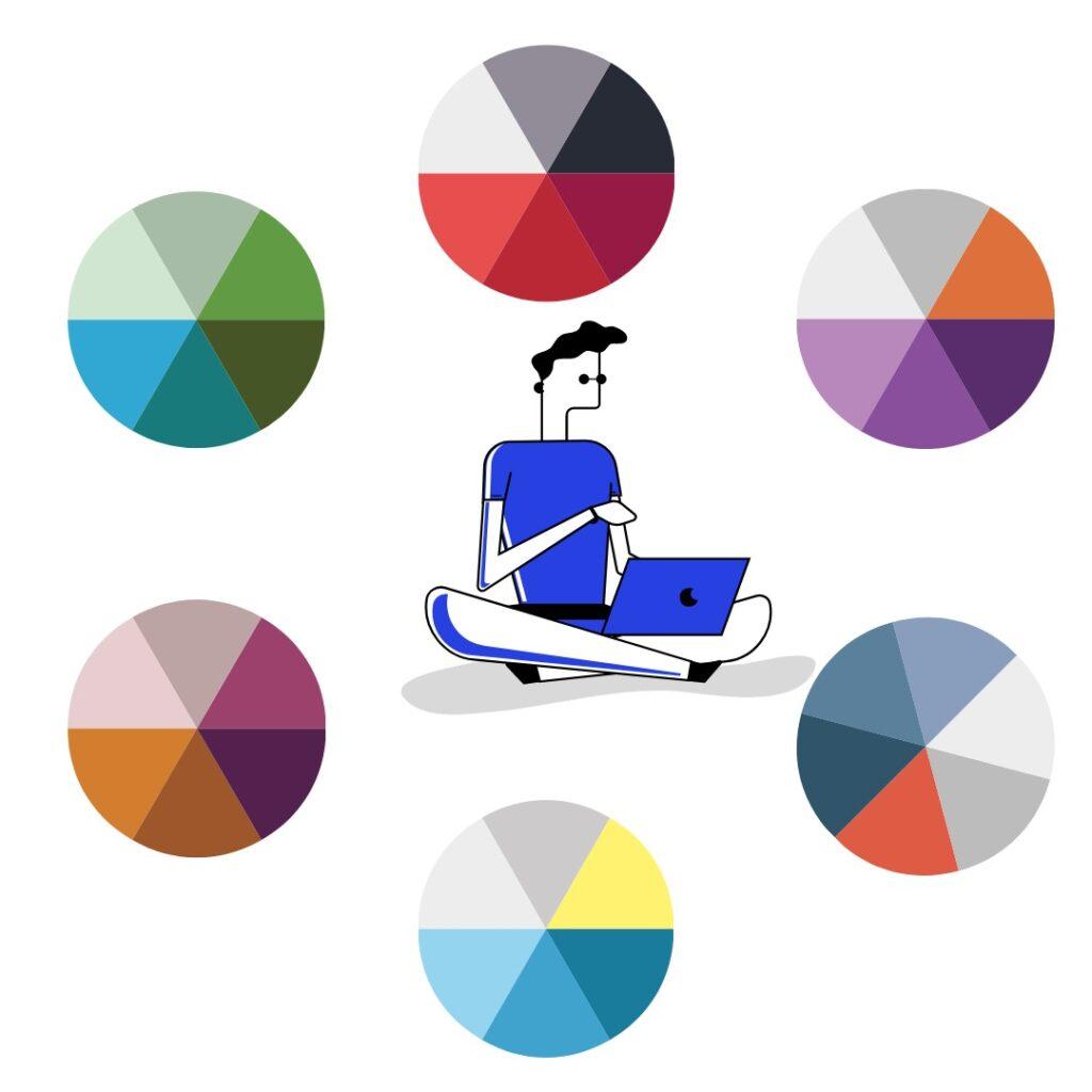 выбор дизайна и цветовой палитры