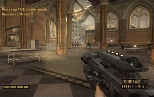 Screenshot from the game Resistance Fall of Man with the prototype of Manchester Cathedral